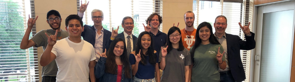 UT Austin students with Art Markman and Greg Pogue