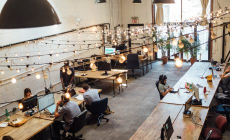 people in a coworking space, which is the topic of the article