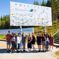 students at the Arctic circle