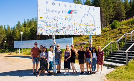 students at the Arctic circle