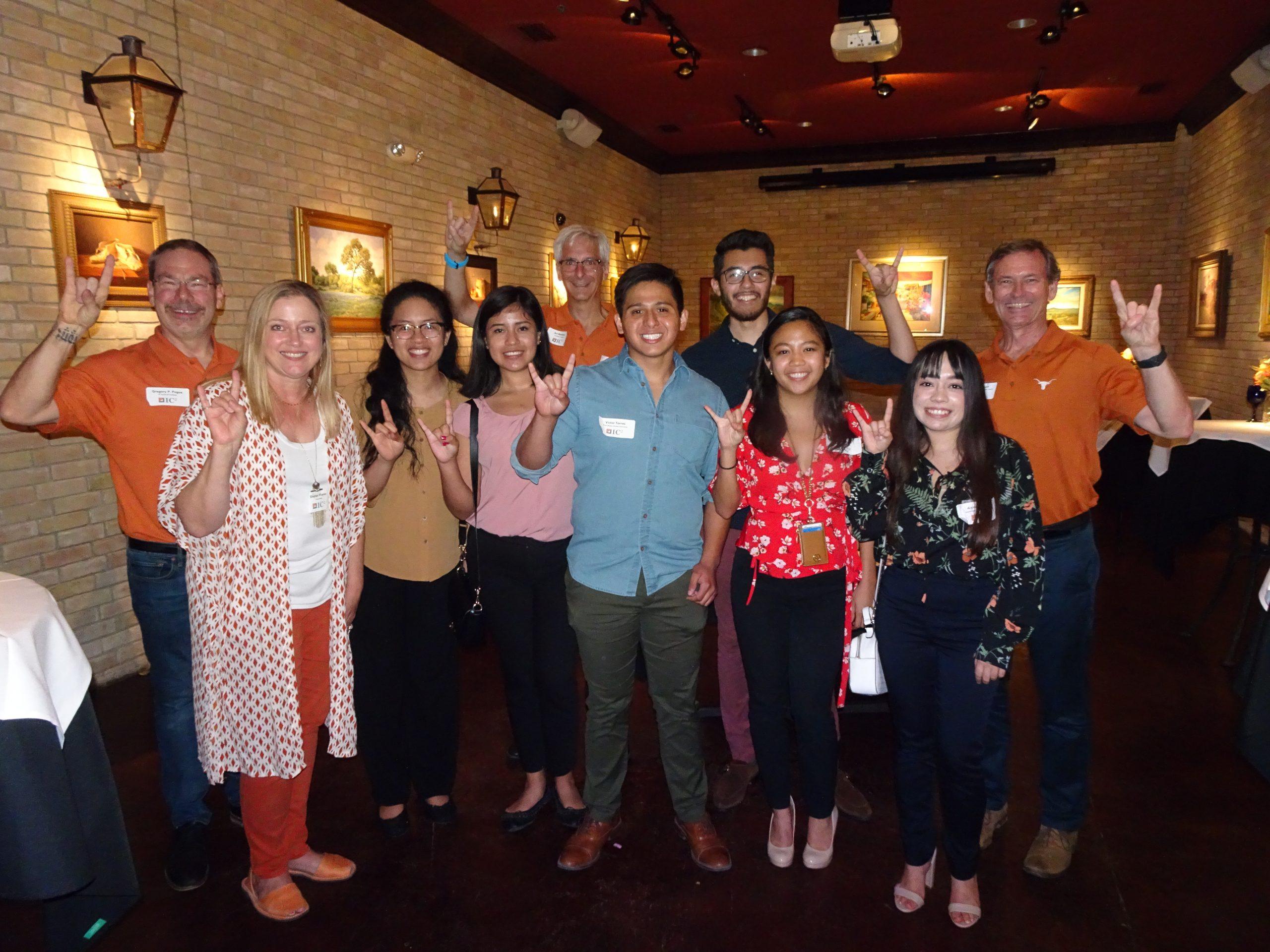 group of HTT interns and UT staff