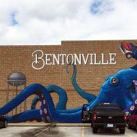 Mural of octapus on building in Bentonville, AR