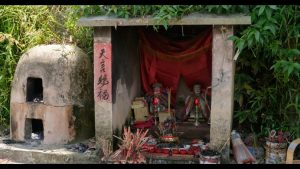 religious shrines in a village in rural China