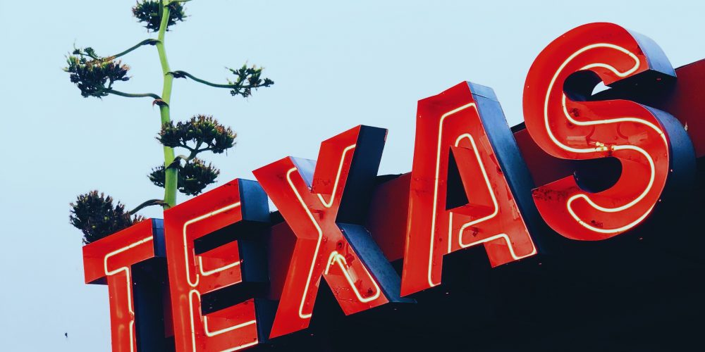 red texas sign