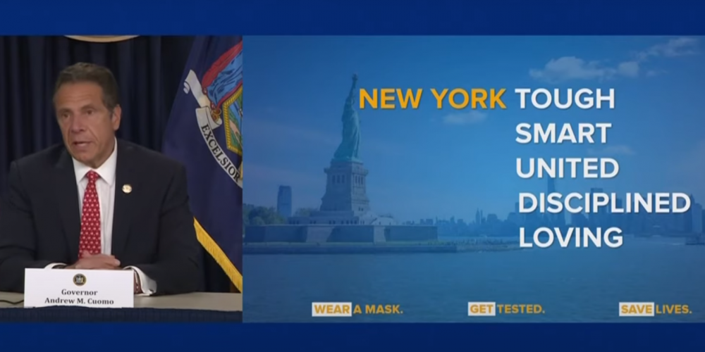 Governor Cuomo and NY values slide