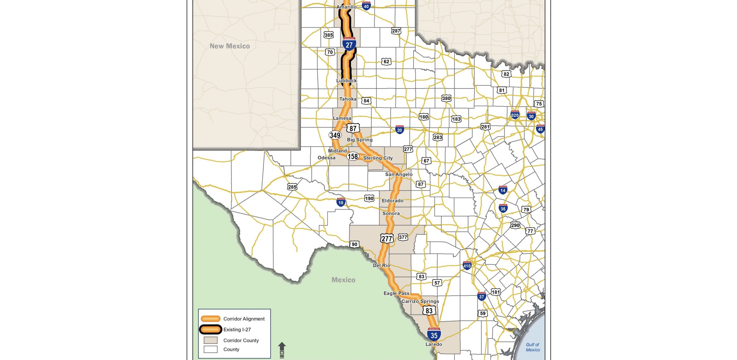 texas dot feasability study map
