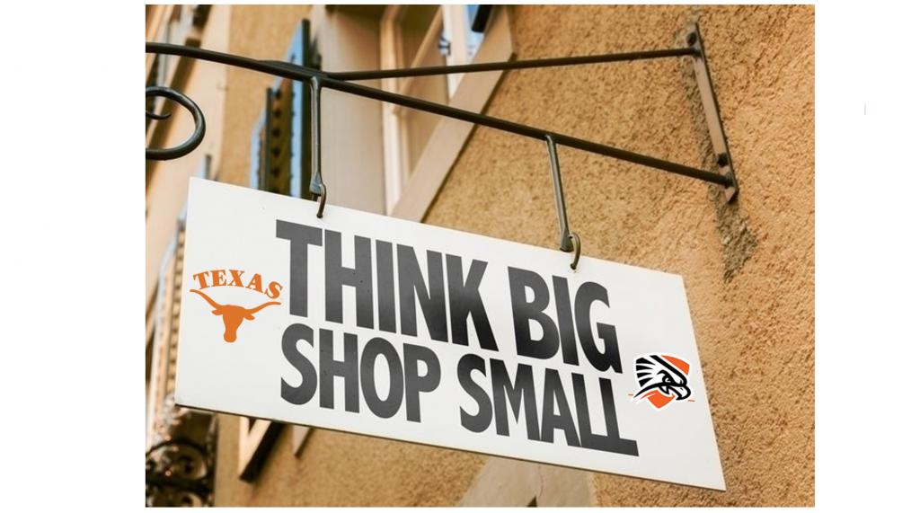 """Think Big Shop Small"""