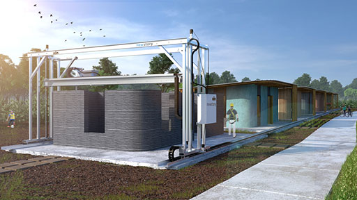 ICON technology for 3D-printing houses
