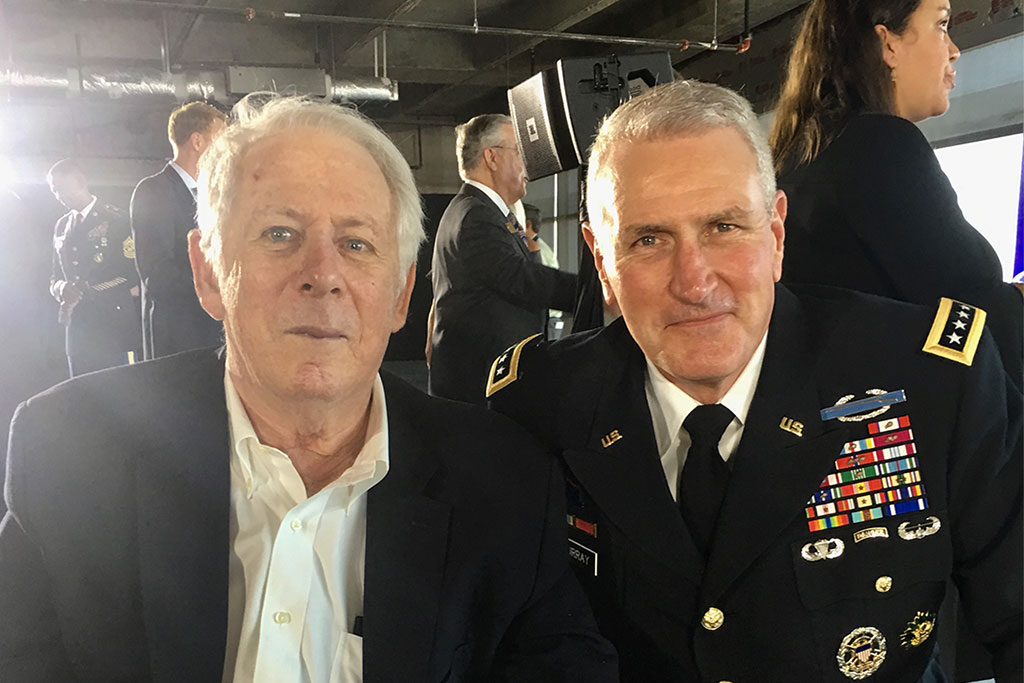 IC² Institute board member Pike Powers with Lt. Gen. John Murray