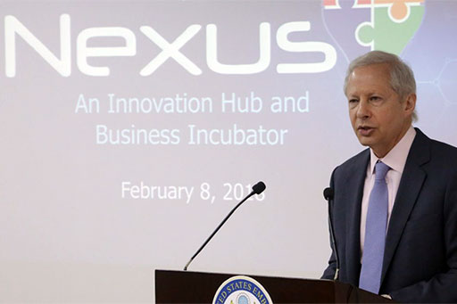 Ambassador Kenneth I. Juster at the launch of Nexus Startup Hub in New Delhi, 8 Feb 2018